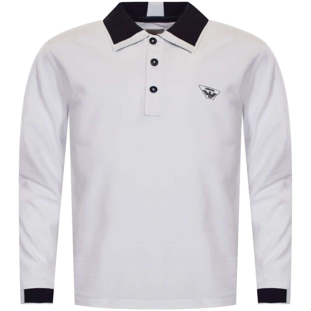 2c08e8994 ... czech armani junior white long sleeve polo shirt 18c2f b0e9f