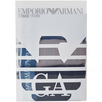 Armani Underwear 3 Pack Multi Trunks