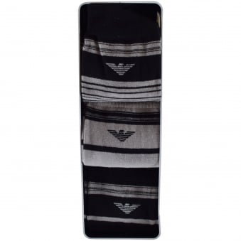 Emporio Armani 3 Pack Stripe Socks
