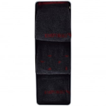 Emporio Armani Grey/Red 3 Pack Socks