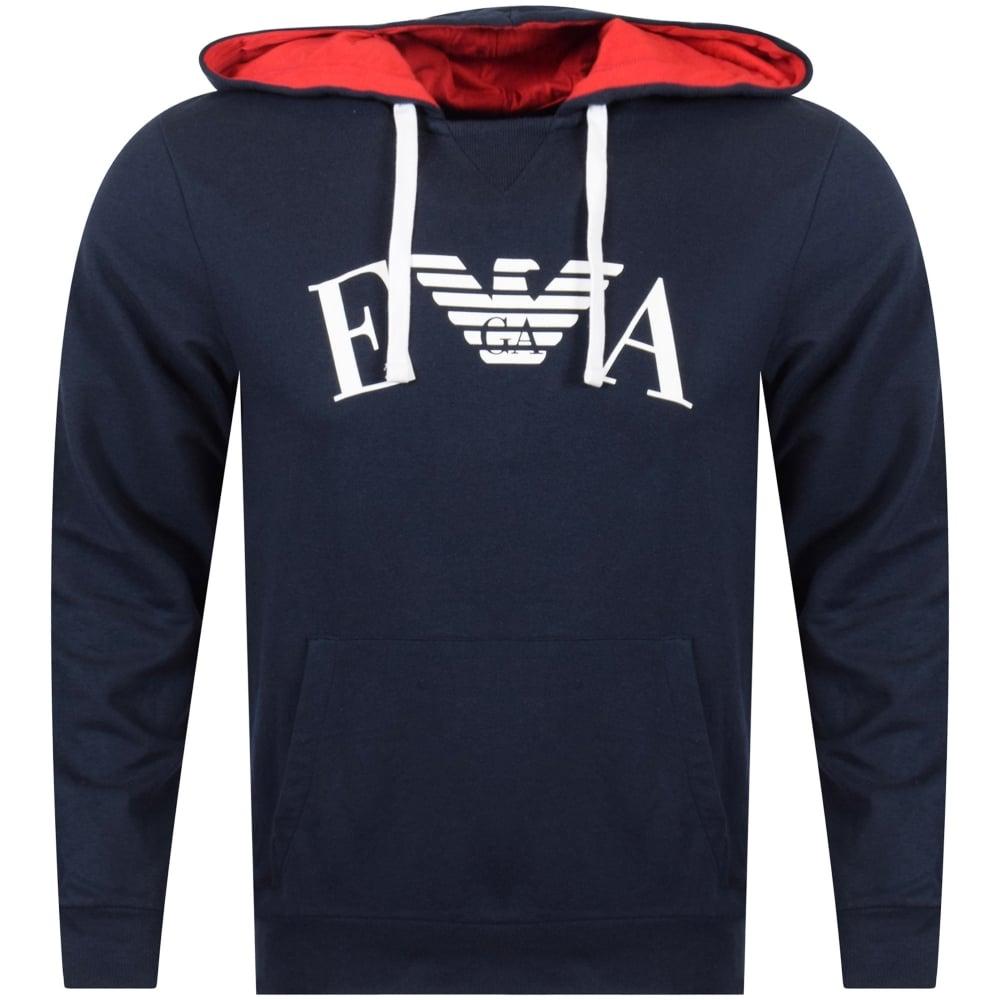 19a3f3850e Emporio Armani Pullover Logo Hoodie