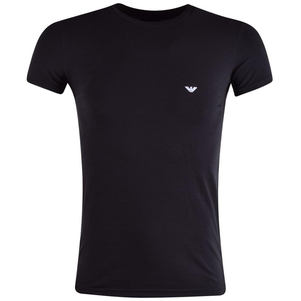 Emporio Armani Emporio Armani Underwear Black Logo T Shirt