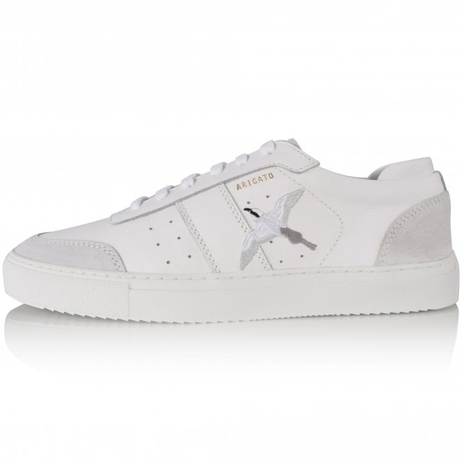 AXEL ARIGATO White Embroidered Trainers Side