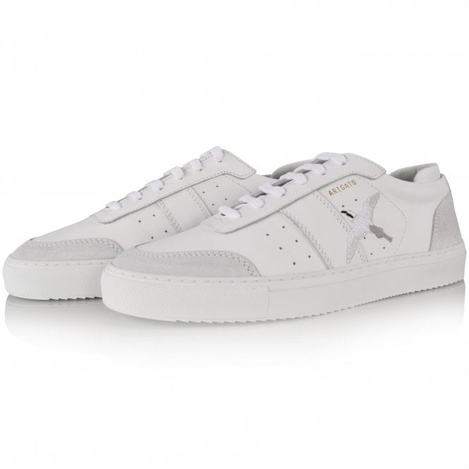 AXEL ARIGATO White Embroidered Trainers Front