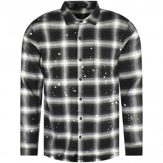 AZAT MARD Check Distressed Shirt With Logo Front
