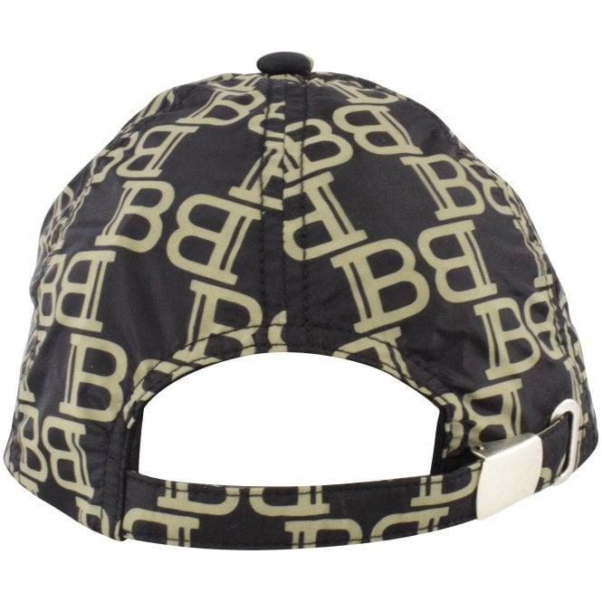 BALMAIN Black/Khaki Logo Print Baseball Cap