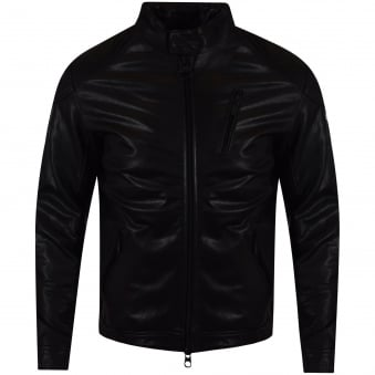 Barbour Black Leather Jacket
