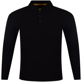 Barbour Black Long Sleeved Polo Shirt