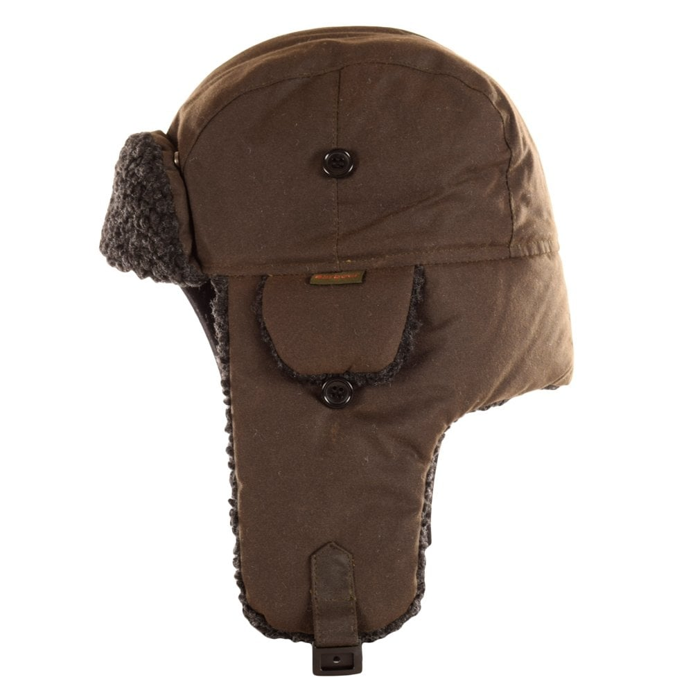 a52ad12e0bb BARBOUR HERITAGE Barbour Fleece Lined Olive Trapper Hat - Men from ...