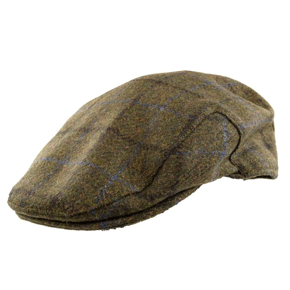 BARBOUR HERITAGE Barbour Green Tweed Overcheck Flat Cap - Men from ... 05177b783b6