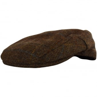 Barbour Brown Check Tweed Grandad Hat