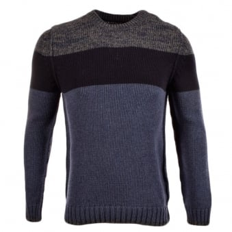 Barbour Claypath Blues Striped Knit Jumper
