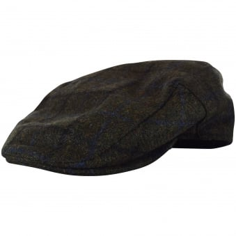 Barbour Green Check Tweed Grandad Hat