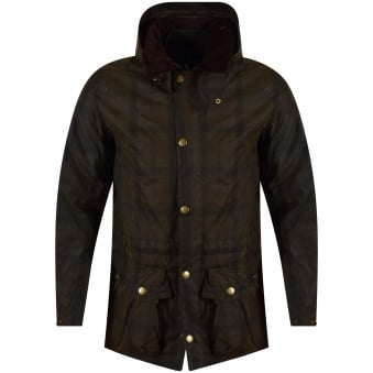 Barbour Green Checked Coat