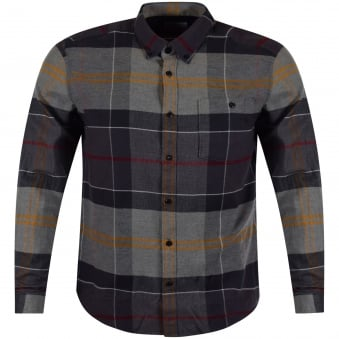 Barbour Grey Tartan Long Sleeved Shirt