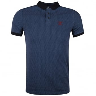 Barbour Heritage Blue Flower Print Polo Shirt