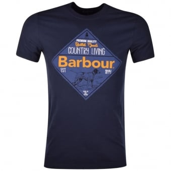 Barbour Navy Gundog Logo T-Shirt