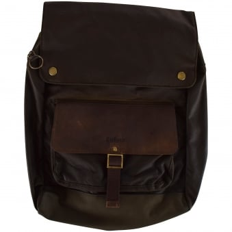 Barbour Olive Wax Urban Backpack