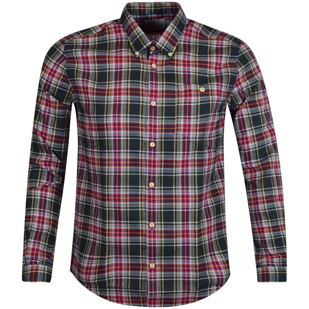 Barbour heritage barbour heritage green red checked shirt for Red and green checked shirt