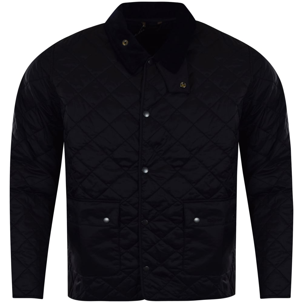 hooded p info mens quilt international slim navy ouston quilted barbour jacket black product