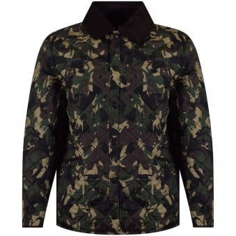 Barbour Heritage Olive Camo Highfield Jacket