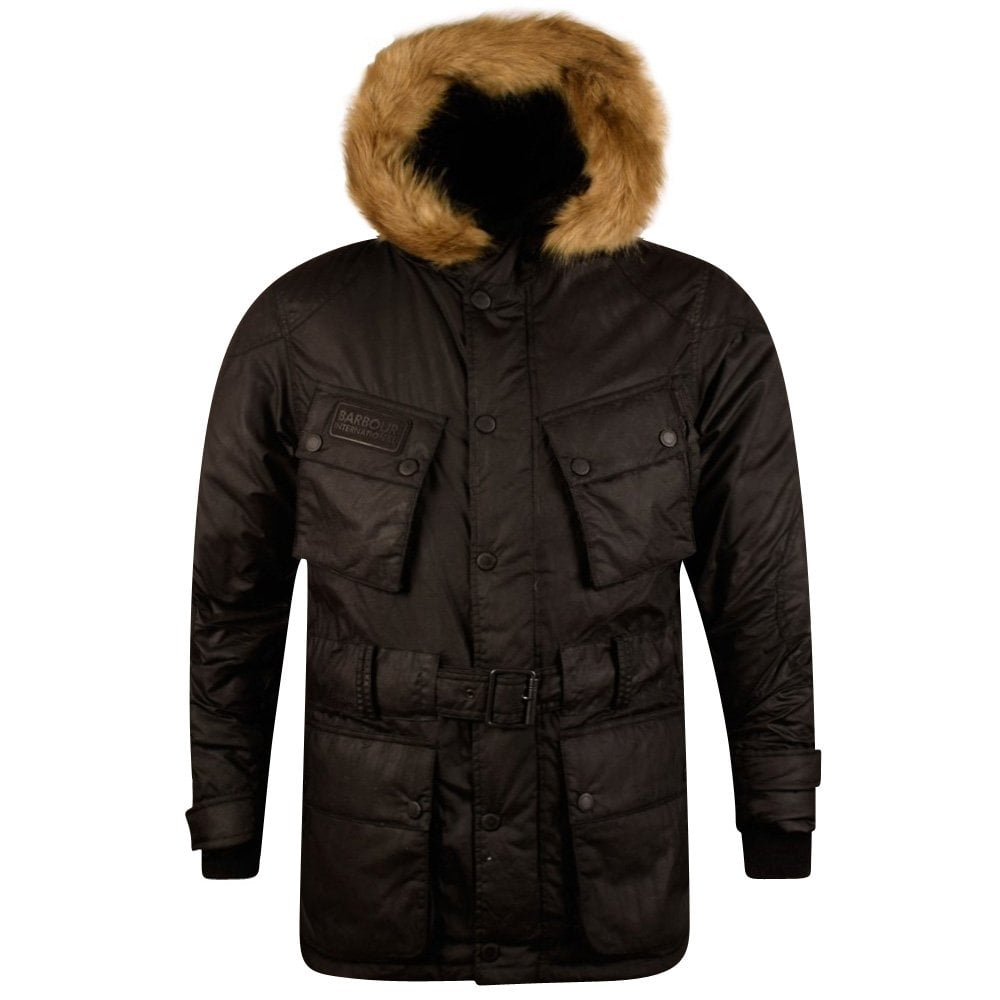 f0f160cdd BARBOUR INTERNATIONAL Barbour International Black Storm Winter Parka Jacket