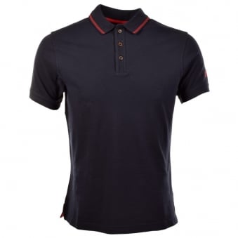 Barbour International Navy Short Sleeve Polo Shirt