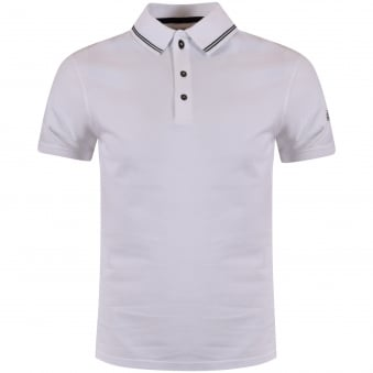 Barbour White Short Sleeve Polo Shirt