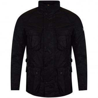 Barbour International Black Gauge Wax Jacket
