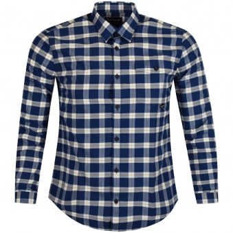 Barbour International Blue Checked Shirt