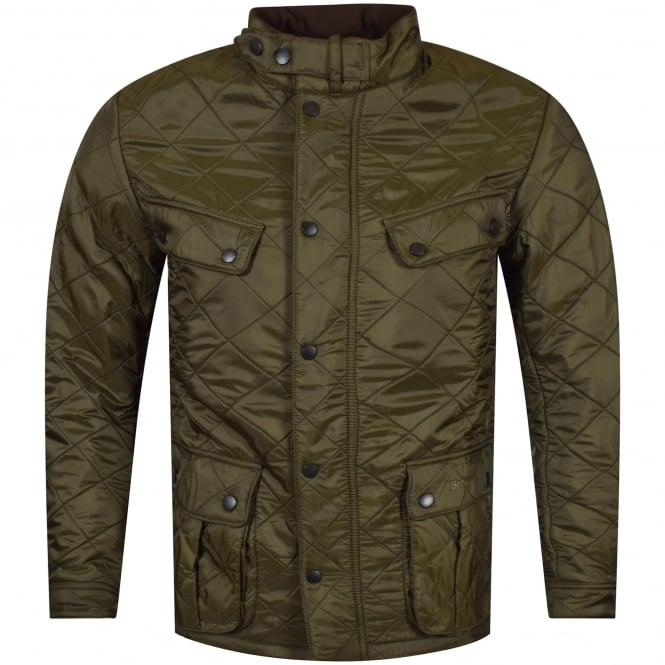 BARBOUR INTERNATIONAL Olive Green Ariel Polarquilt Coat