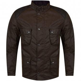 Barbour International Olive Weir Wax Jacket