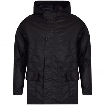 Barbour Junior Navy Waxed Trail Jacket