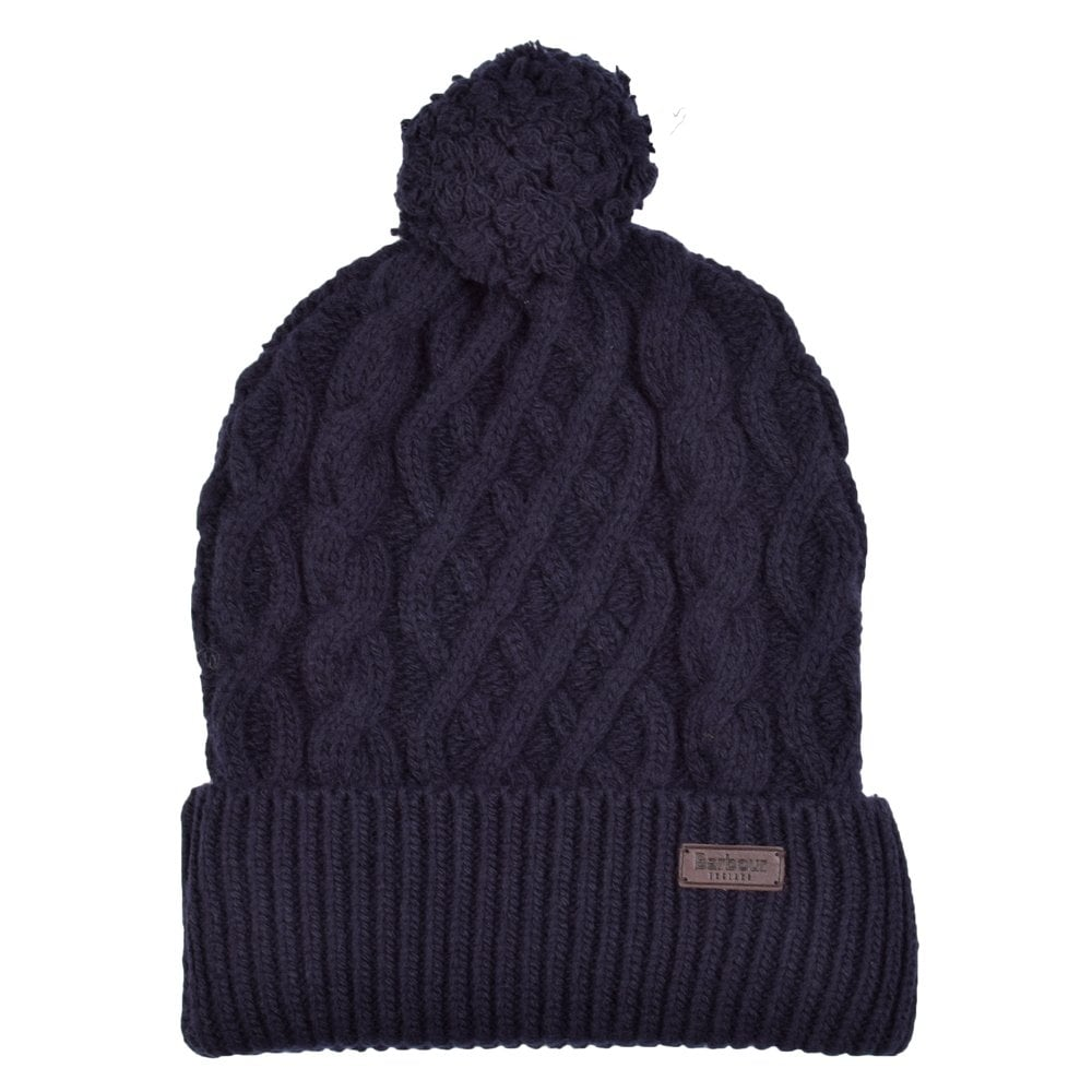BARBOUR HERITAGE Barbour Navy Cable Knit Bobble Hat - Men from ... 46e8af57cde