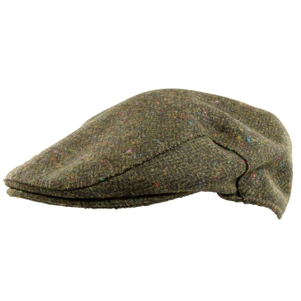 BARBOUR HERITAGE Barbour Olive Tweed Flat Cap - Men from ... 74bee54d3ef