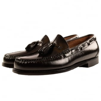 Bass Weejuns Black Tassle Loafers