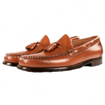 Bass Weejuns Brown Tassle Loafers