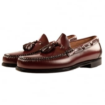 Bass Weejuns Dark Wine Tassle Loafers
