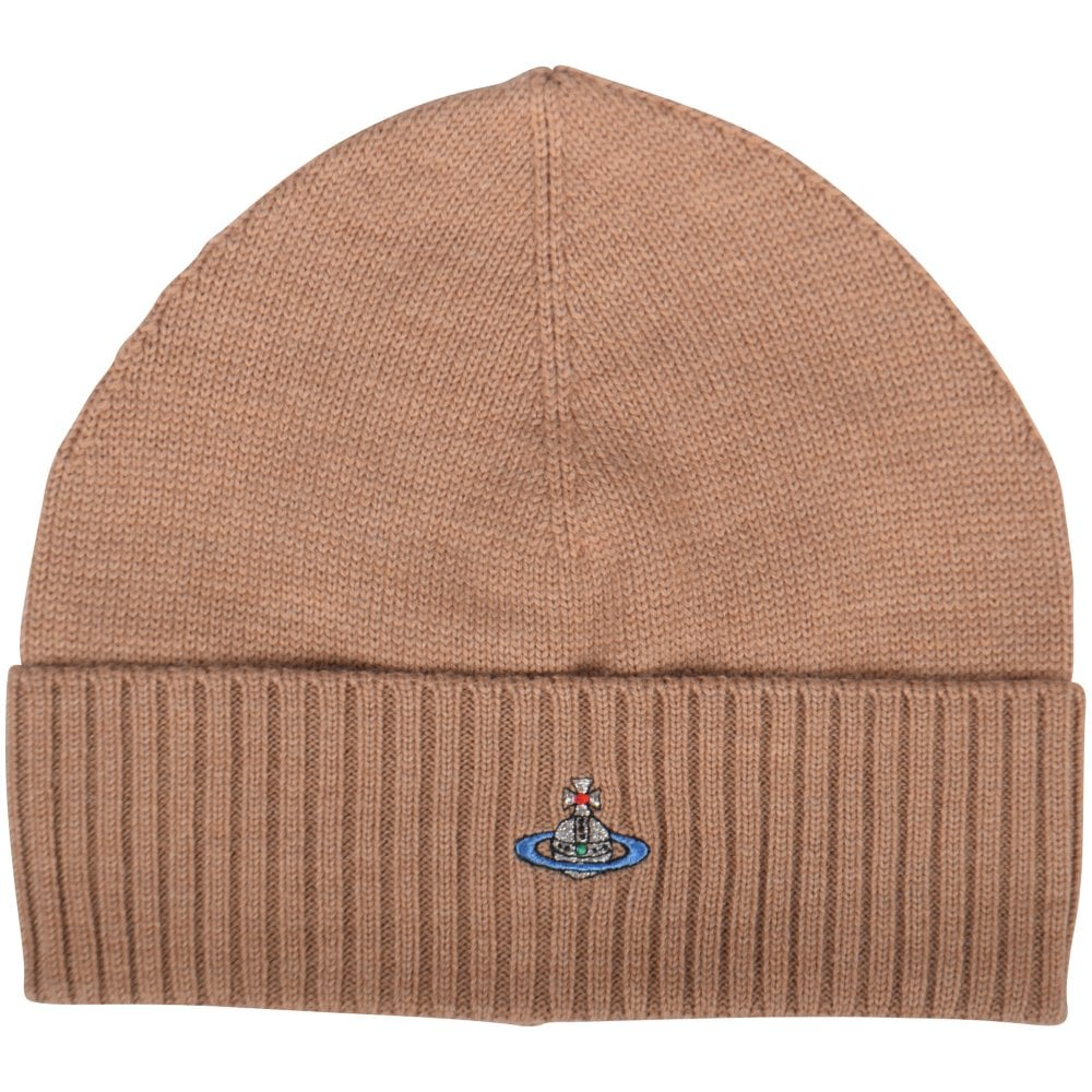 VIVIENNE WESTWOOD Beige Orb Beanie Hat - Men from Brother2Brother UK 994b87c9d84