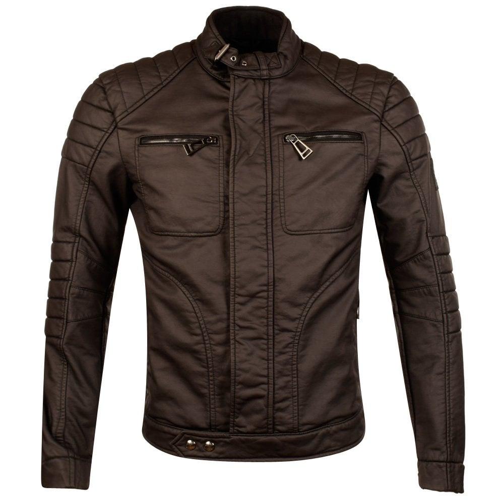 dd18506805 BELSTAFF Belstaff Black Weybridge Leather Look Biker Jacket ...