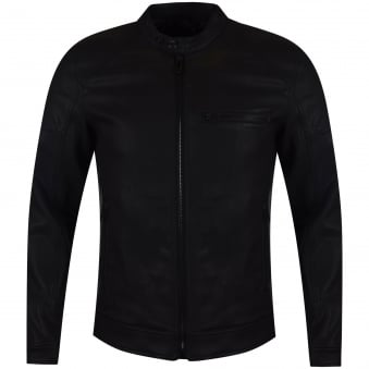 Belstaff Black Beckford Blouson Leather Jacket