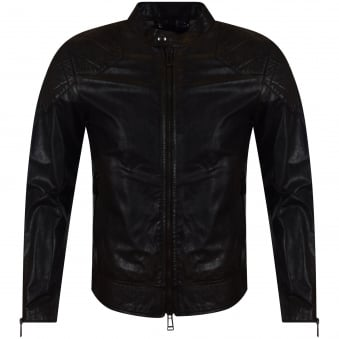 Belstaff Black Leather 'Outlaws' Jacket