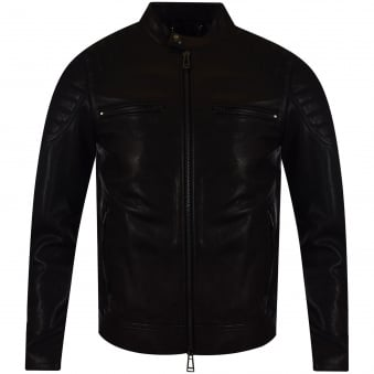 Belstaff Black Stoneham Blouson Leather Jakcet