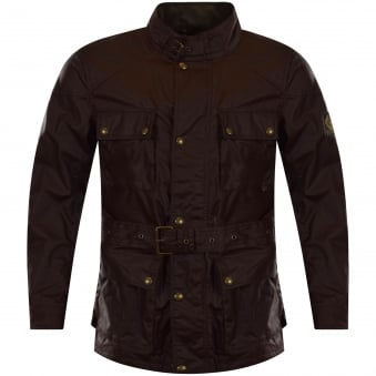 Belstaff Brown Waxed Roadmaster Jacket