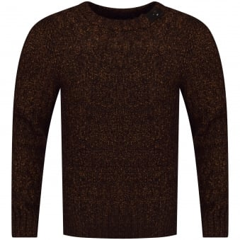 Belstaff Burnt Orange Thick Knit Jumper