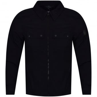 Belstaff Dark Ink Shawbury Zip Through Overshirt
