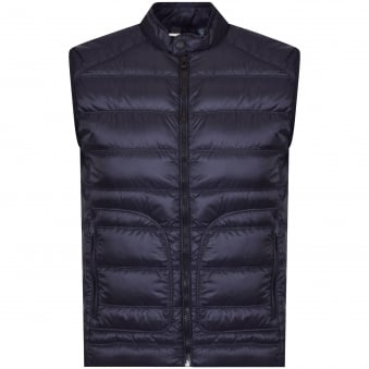 Belstaff Dark Navy Harbury Down Gilet