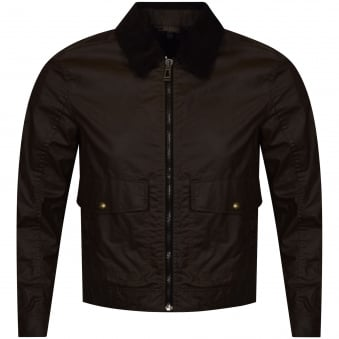 Belstaff Mentmore Faded Olive Zip Up Jacket