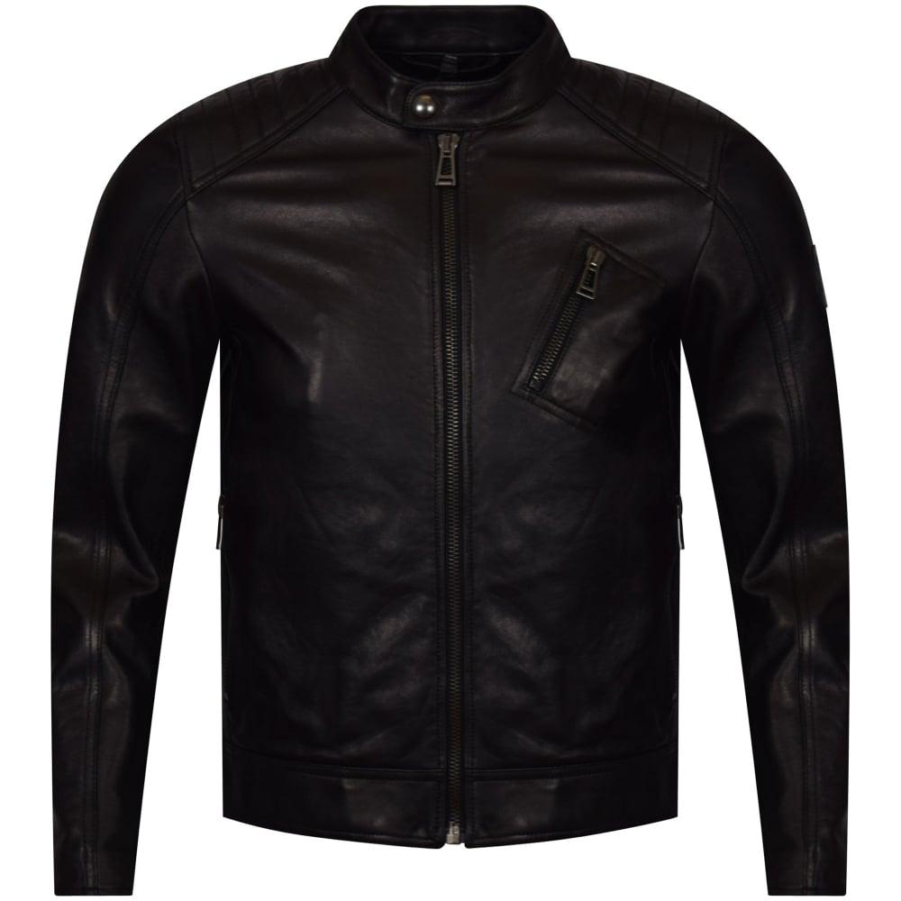 a0be2a04cb01 BELSTAFF Belstaff V Racer Black Leather Jacket - Men from ...