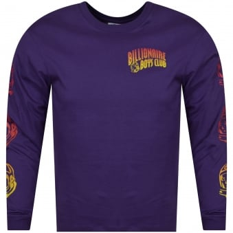 Billionaire Boys Club Purple/Multi Logo Long Sleeve T-Shirt